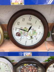 Anime cuteness in the EDION Clock section
