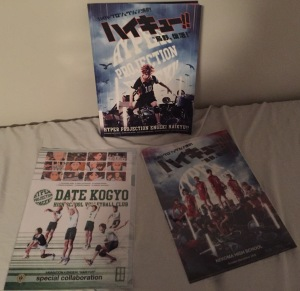 Program and commemorative folders from the Haikyu!! musical